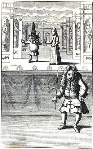 Martin Powell (puppetry) - Image: Second Tale of a Tub(1715) frontispc Powell with Punch