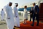 Secretary Kerry Is Welcomed by U.S. Ambassador Leaf Upon Arriving in Abu Dhabi (27448501912).jpg