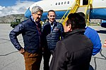 Secretary Kerry and Danish Foreign Minister Jensen Speak With Greenlandic Premier Kielsen and Foreign Minister Qujaukitsoq at Kangerlussuaq International Airport (27680769901).jpg