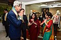 Secretary Kerry expresses appreciation after scarf ceremony upon arriving in India.jpg