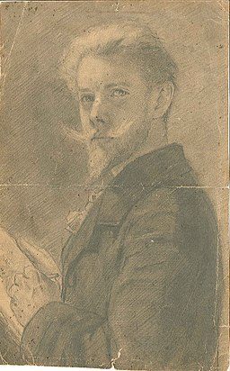 Self-Portrait by Henry Luyten Roermond municipal art collection 0600