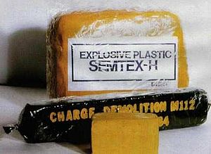 Provisional Irish Republican Army campaign - Samples of Semtex-H and C4 plastic explosives