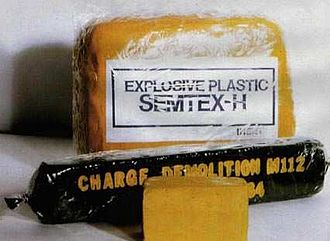 Semtex - Samples of semtex and other plastic explosives