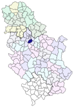 sopot mapa srbija Opština Sopot   Wikipedia sopot mapa srbija