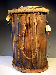Serer Royal War Drum (Jung-Jung). 19th Century. Jung-Jung From The Kingdom of Sine (in modern day Senegal)