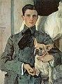 Serow, Walentin Alexandrowitsch Bildnis des Grafen Felix Felixowitsch Sumarokow-Elston mit Hund.jpg