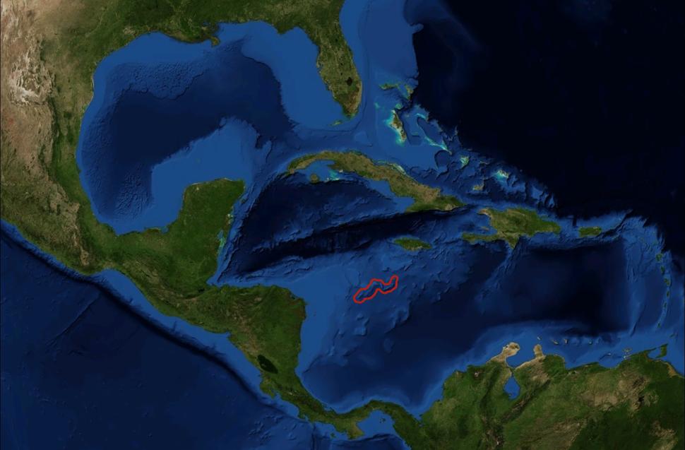 Serranilla Bank marked satellite map