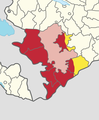 Seven occupied districts surrounding Nagorno-Karabakh.png