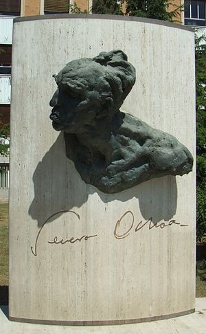 Severo Ochoa - Severo Ochoa Monument outside the School of Medicine of the Complutense University of Madrid