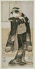 Iwai Hanshirō IV as Otoma, Daughter of Ohina from Inamuragasaki in Kamakura, actually Kikusui, the wife of Kusunoki Masashige 2