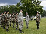 Shawn (left) and Kevin Utermohlen conducted an inspection of a flight of Civil Air Patrol cadets.jpg