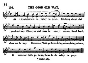 "Sheet Music for ""The Good Old Way"" from Slave Songs of the United States.jpg"