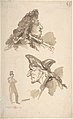 Sheet of Studies- Two Male Heads in Profile and Standing Man MET DP808311.jpg
