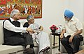 Sheila Dikshit meeting the Deputy Chairman, Planning Commission, Shri Montek Singh Ahluwalia for finalizing plan size for 2012-13 for the State, in New Delhi. The Minister of State for Planning.jpg