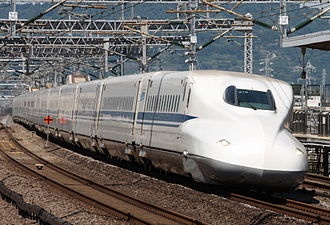 Multiple unit - A N700 Series Shinkansen set in June 2008