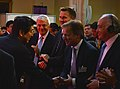 Shinzo Abe with Sir John Major, Jeremy Hunt and Hugo Swire (9092393866).jpg