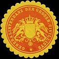 Siegelmarke Generalintendanz der Grossh. Civilliste W0350197.jpg