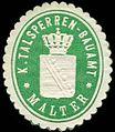 Siegelmarke Königliches Talsperren - Bauamt - Malter W0253840.jpg