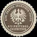 Siegelmarke K.Pr. Ingenieur-Corps 6te Festungsinspection W0345177.jpg