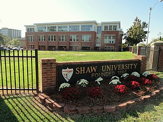 Historically black colleges and universities - Shaw University, first HBCU in the South founded in 1865.