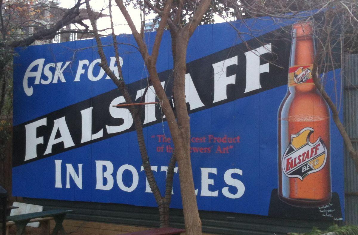 Sign for Falstaff Beer.JPG