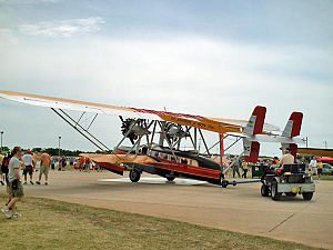 Sikorsky S-38 - Sikorsky S-38 being positioned for display at AirVenture, Oshkosh in 2006. This is a replica.