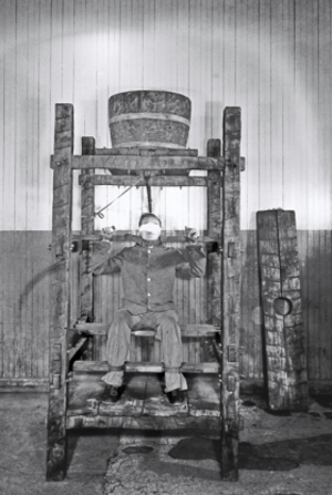 Chinese water torture - Chinese water torture at Sing Sing Prison in Ossining, New York, circa 1860
