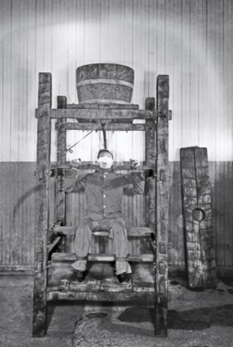 Chinese water torture - Chinese water torture at Sing Sing Prison in Ossining, New York, circa 1860