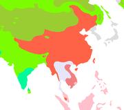 συνοθιβετικές γλώσσες με κόκκινο