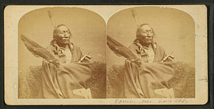 Sioux Chief 'Roman Nose', from Robert N. Dennis collection of stereoscopic views