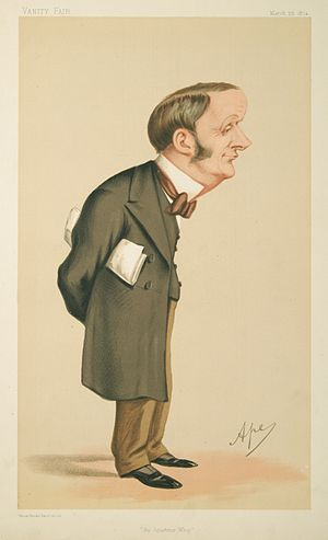 """Sir Charles Forster, 1st Baronet - """"An Amateur Whip"""" Forster as caricatured by Ape (Carlo Pellegrini) in Vanity Fair, March 1874"""