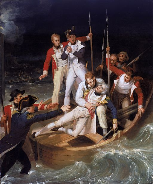 Sir Horatio Nelson when wounded at Teneriffe