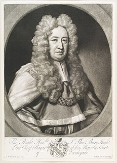 Thomas Bury (judge) English judge and Chief baron of the exchequer