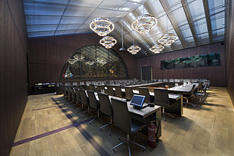 Conference hall - A meeting room, in the Federal Palace of Switzerland in Bern.