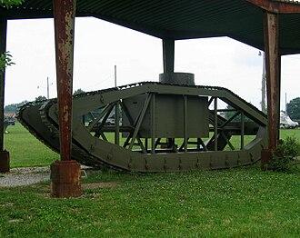 Skeleton tank - Skeleton Tank preserved at Aberdeen Proving Ground