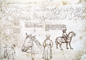 John VIII Palaiologos - Image: Sketches of John VIII Palaiologos during his visit at the council of Florence in 1438 by Pisanello