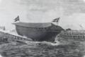 Skrueskonnerten Dianas Afløbning den 11te November 1863.png
