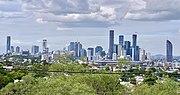 Skyline of Brisbane CBD seen from Paddington, Queensland in May 2020, 01