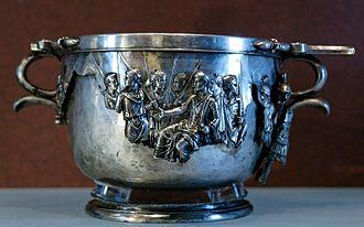 Boscoreale Treasure - Image: Skyphos Boscoreale Louvre Bj 2366
