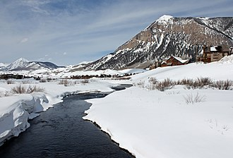 Slate River (Colorado) - The river as it passes through the Skyland neighborhood of Crested Butte, Colorado.