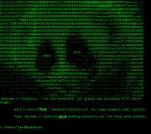 Slowloris running on Command Prompt