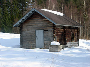 Duman saunası, Enonkoski, Finlandiya.