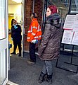 Social distancing at the doctor's surgery in London - One in one out.jpg