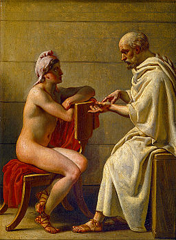 Socrates and Alcibiades, Christoffer Wilhelm Eckersberg