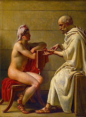 Socrates - Socrates and Alcibiades, by Christoffer Wilhelm Eckersberg