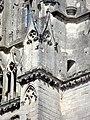 Soissons (02), abbaye Saint-Jean-des-Vignes, abbatiale, façade occidentale, amortissement du contrefort à gauche de la nef.jpg