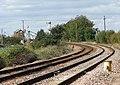Somerleyton railway station - approaching the swing bridge - geograph.org.uk - 1505956.jpg