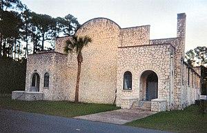 Sopchoppy, Florida - Old Sopchoppy High School Gymnasium.