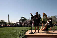 Soprano Kathleen Battle sings at the ceremony in honor of Pope Benedict XVI.jpg