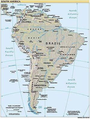 Outline of South America - Image: South america (1)